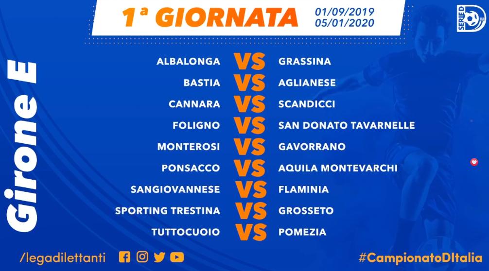 Calendario Serie A 2020 E 2020.Serie D Calendari 2019 2020 Grassina E San Donato
